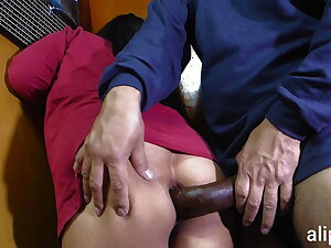 Giant cock pierces my ass increased by I scream in pain increased by appreciation